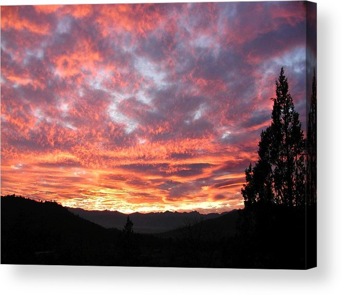 Clouds Acrylic Print featuring the photograph Unreal Beauty Ahead by William McCoy