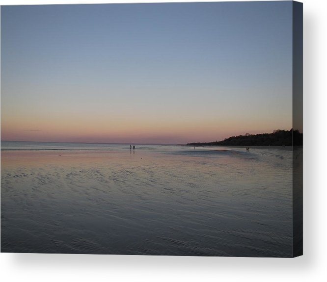 Beach Acrylic Print featuring the photograph Walk At Sunset by Elizabeth Hardie
