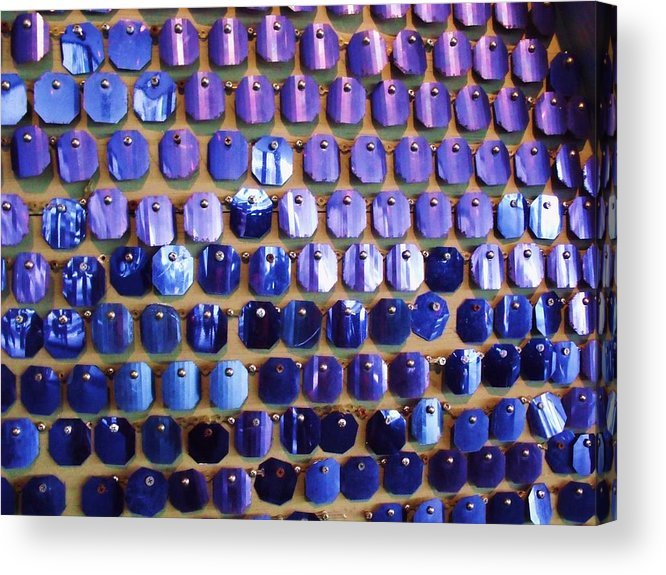 Blue Acrylic Print featuring the photograph Wall Of Blue by Anna Villarreal Garbis