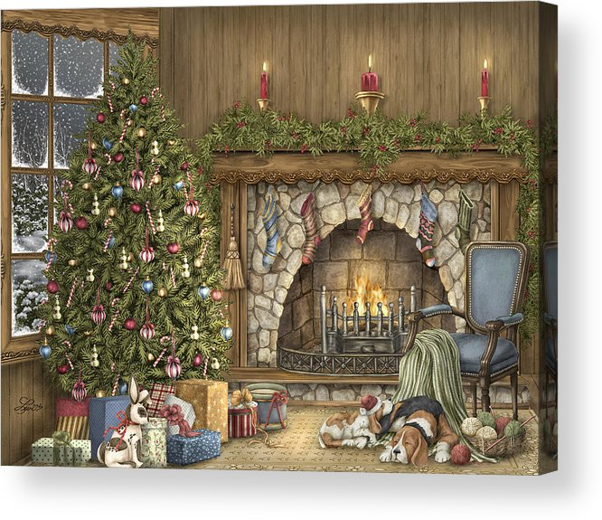 Christmas Acrylic Print featuring the painting Warm Christmas by Beverly Levi-Parker