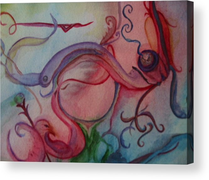 Pipe Art Acrylic Print featuring the painting What A Pipe by Marian Hebert