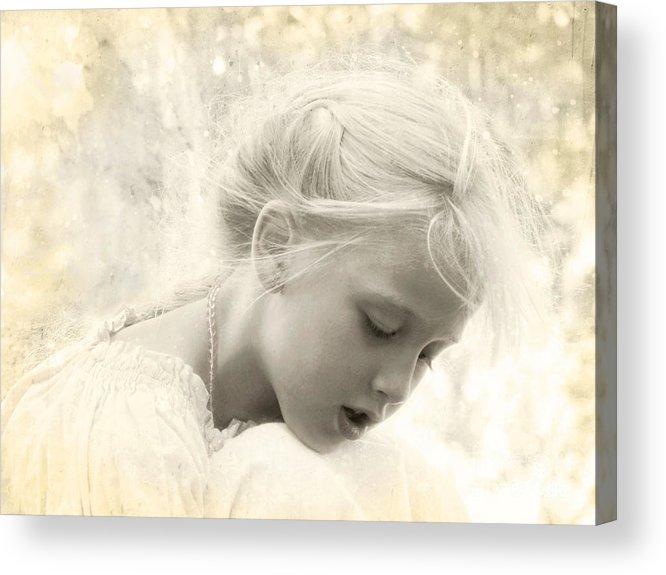 Children Acrylic Print featuring the photograph When Dreams Come True by Ellen Cotton