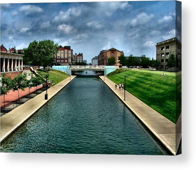 White River Acrylic Print featuring the photograph White River Park Canal In Indy by Julie Dant