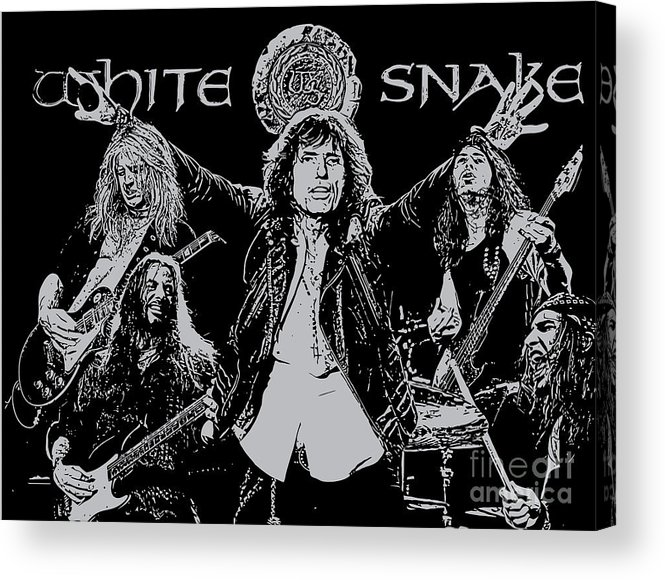 Whitesnake Acrylic Print featuring the digital art Whitesnake No.01 by Caio Caldas