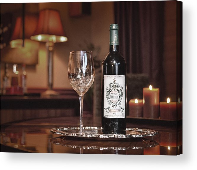 Red Acrylic Print featuring the photograph Wine For One by Dennis James