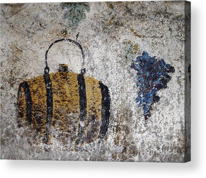 Destruction Acrylic Print featuring the photograph Wine Fresco by Bernard Jaubert