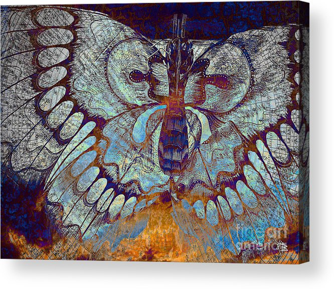 Butterfly Acrylic Print featuring the mixed media Wings Of Destiny by Christopher Beikmann