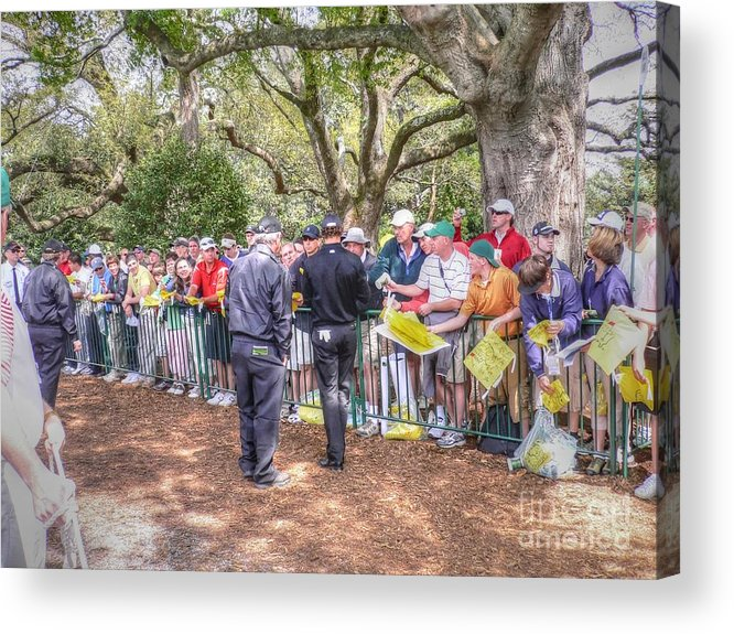 Augusta Georgia Acrylic Print featuring the photograph Working The Line by David Bearden