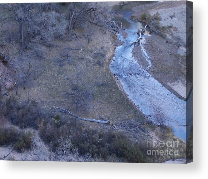 Acrylic Print featuring the photograph Zion National Park Reflection 2 by Rachel Butterfield