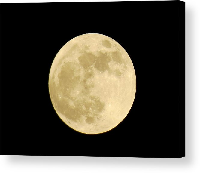 Moon Acrylic Print featuring the photograph Satellite by Azthet Photography
