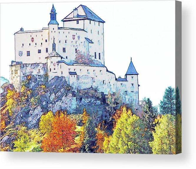 Europe Acrylic Print featuring the photograph Schloss Tarasp Switzerland by Joseph Hendrix