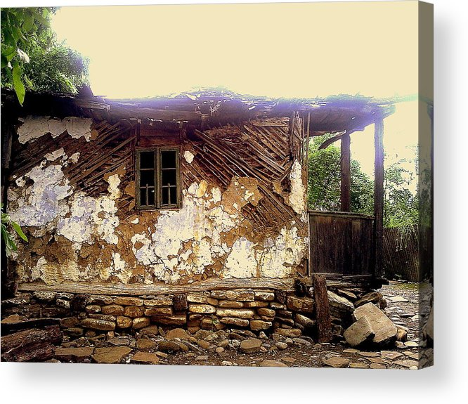 Years Old House Acrylic Print featuring the relief 230 Years Old House by Romeo Popescu