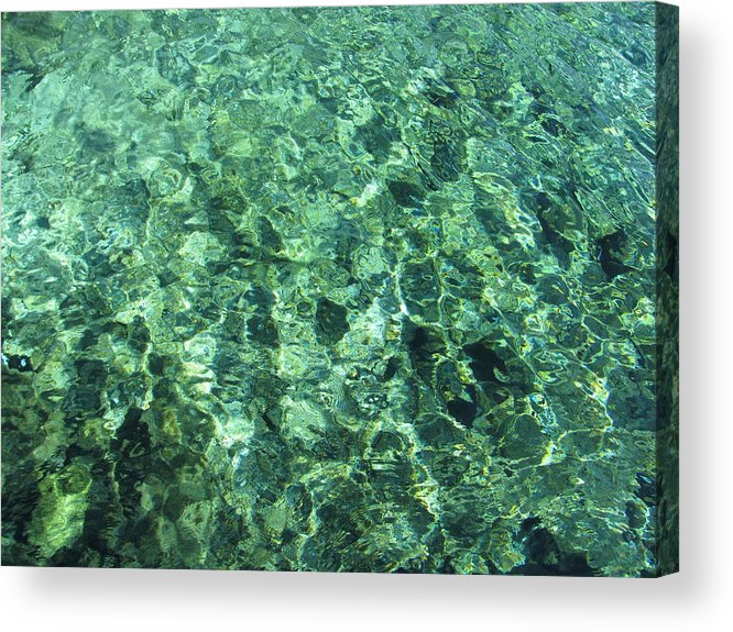 Water Reflection Acrylic Print featuring the photograph Abstract by John OBrien