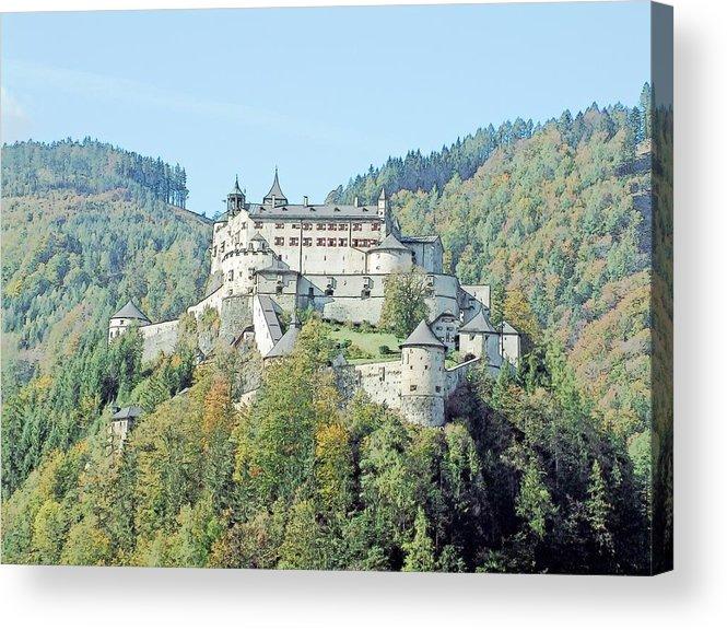 Europe Acrylic Print featuring the photograph Schloss Hohenwerfen Werfen Austria by Joseph Hendrix