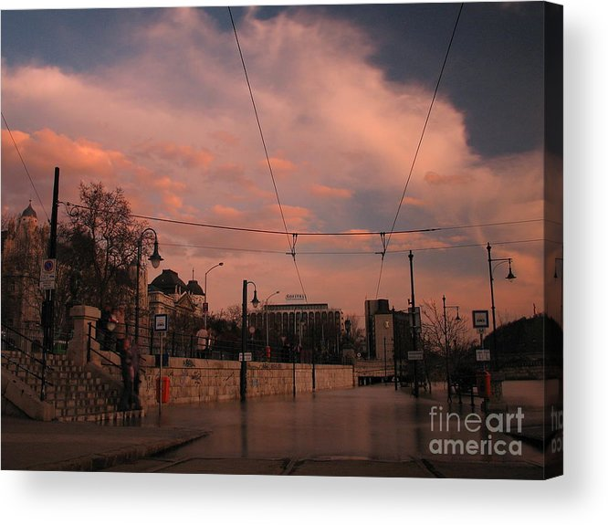 Architecture Acrylic Print featuring the photograph Budapest By Night by Odon Czintos