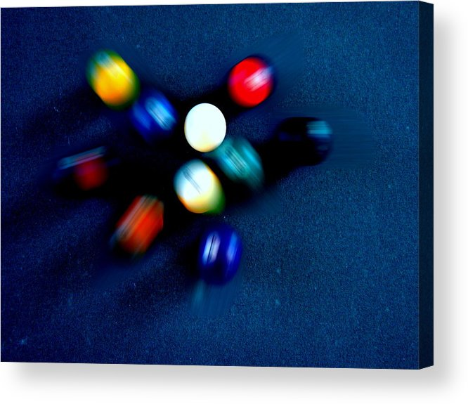 Pool Acrylic Print featuring the photograph 9 Ball Break by Nick Kloepping
