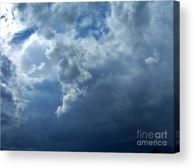 Acrylic Print featuring the photograph A Storm Rolls In From The West 11 by Peggy Miller