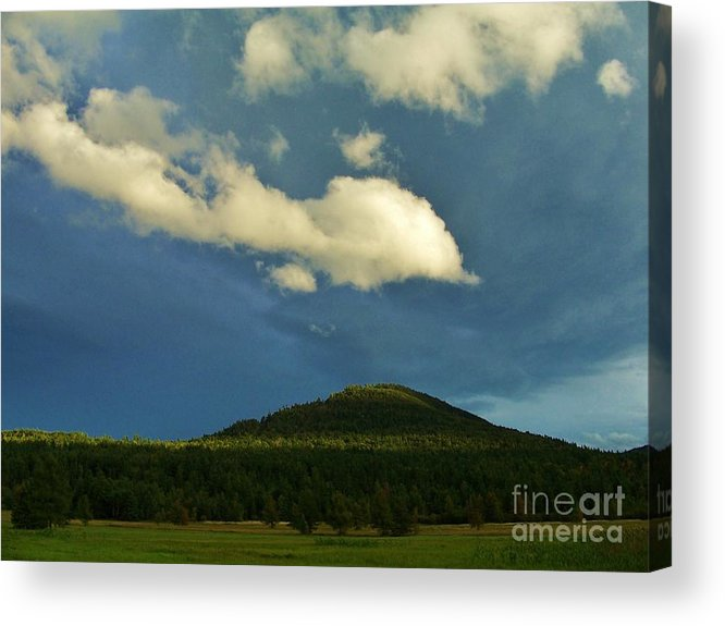 Acrylic Print featuring the photograph A Storm Rolls In From The West 25 by Peggy Miller