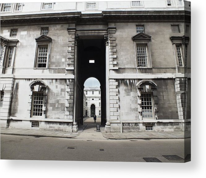 Royal Naval College Acrylic Print featuring the photograph A View Of The Royal Naval College by Anna Villarreal Garbis