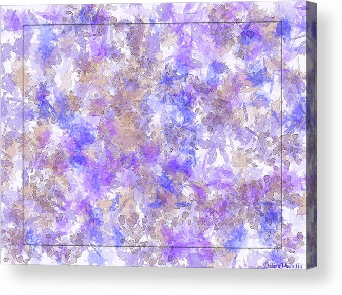 Abstract Acrylic Print featuring the digital art Abstract Purple Splatters by Debbie Portwood