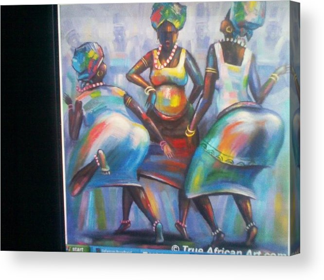 Acrylic Print featuring the painting African Women by John