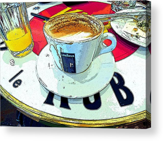 Coffee Cup Digital Photograph Acrylic Print featuring the photograph Afterglow by Loraine LeBlanc