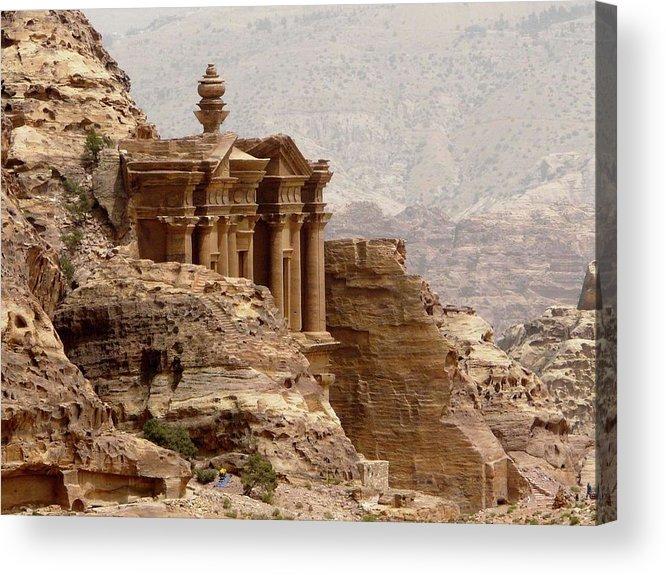 Horizontal Acrylic Print featuring the photograph Al-deir (monastery) by Cute Kitten Images