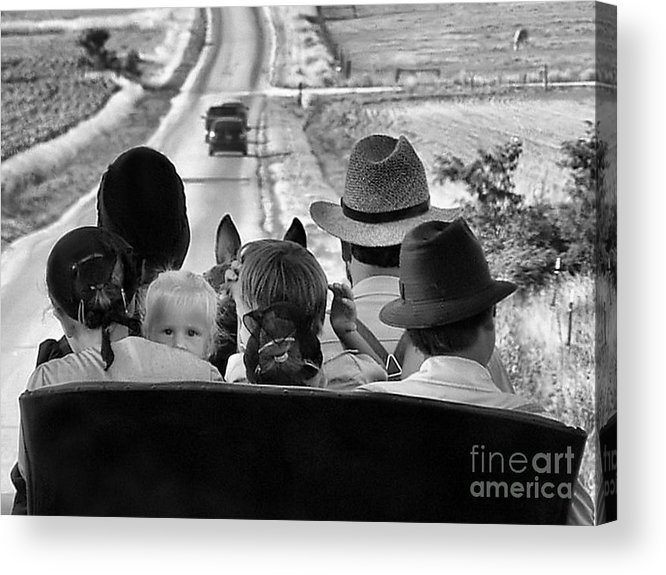 Amish Family Acrylic Print featuring the photograph Amish Family Outing II by Julie Dant