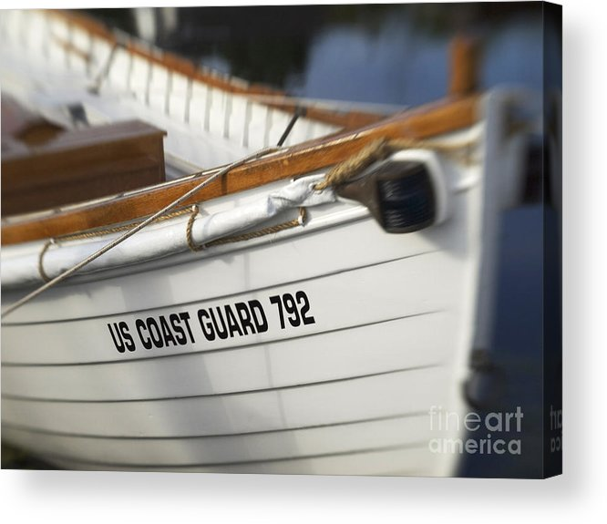 Boat Acrylic Print featuring the photograph Antique Us Coast Guard Boat by Cheryl Butler