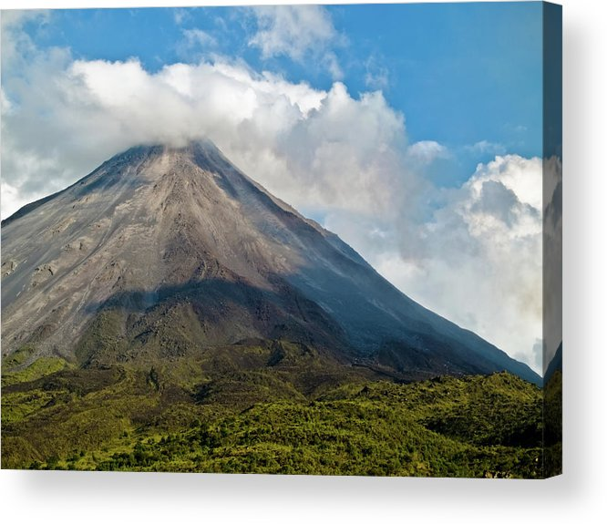 Arenal Acrylic Print featuring the photograph Arenal Volcano Costa Rica by Jim DeLillo