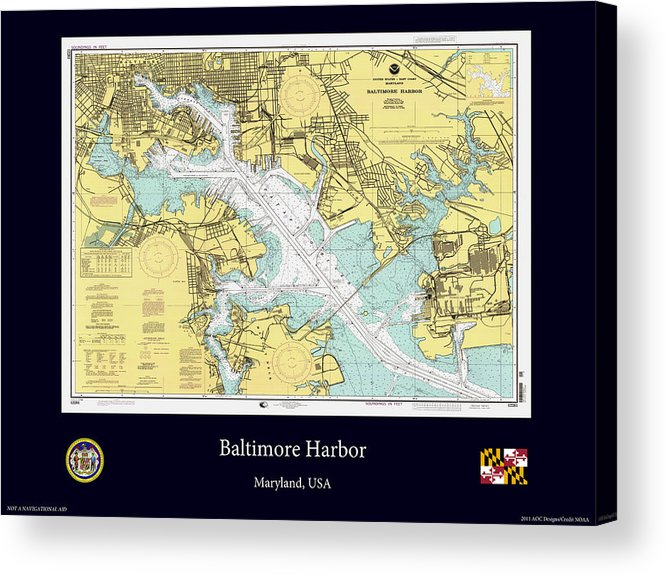 Baltimore Acrylic Print featuring the photograph Baltimore Harbor by Adelaide Images