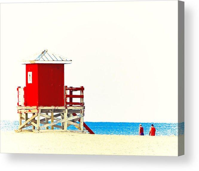 Beach Acrylic Print featuring the photograph Beach Stroll by Stephen Warren