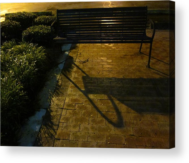 Bench Acrylic Print featuring the photograph Bench And Shadow by Guy Ricketts