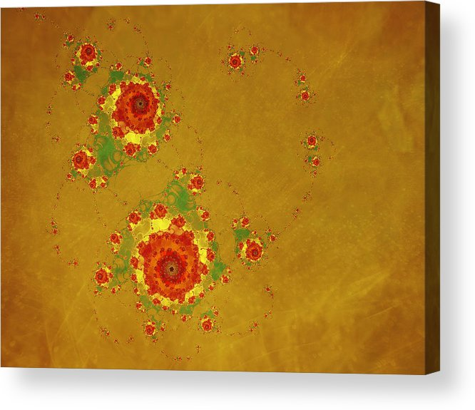 Fractal Acrylic Print featuring the digital art Blossom by Ester Rogers