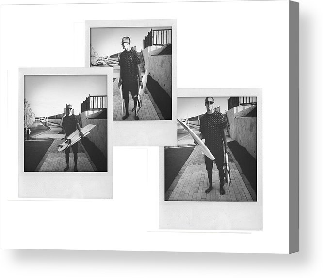 Surfing Acrylic Print featuring the photograph Broken. by Mike Baker