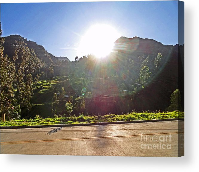 Al Bourassa Acrylic Print featuring the photograph Cajas Mountains Sunset Ecuador by Al Bourassa