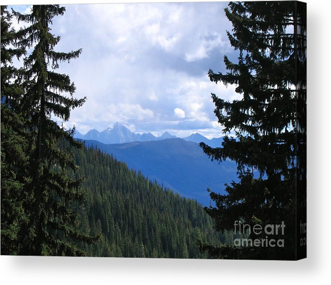 Canadian Rockies Acrylic Print featuring the photograph Canadian Rockies by Kim Frank
