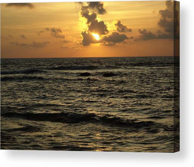 Sunrise Acrylic Print featuring the photograph Caribbean Sunrise by Barry Doherty