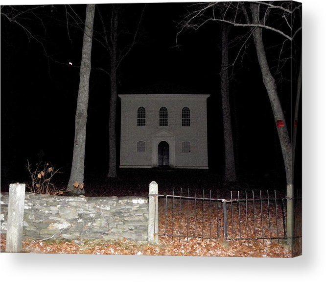 Cemetery Acrylic Print featuring the photograph Cemetery On A Full Moons Night by Kim Galluzzo Wozniak