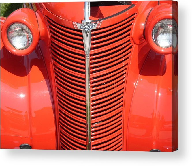 Chevy Acrylic Print featuring the photograph Chevy Orange by Trent Mallett