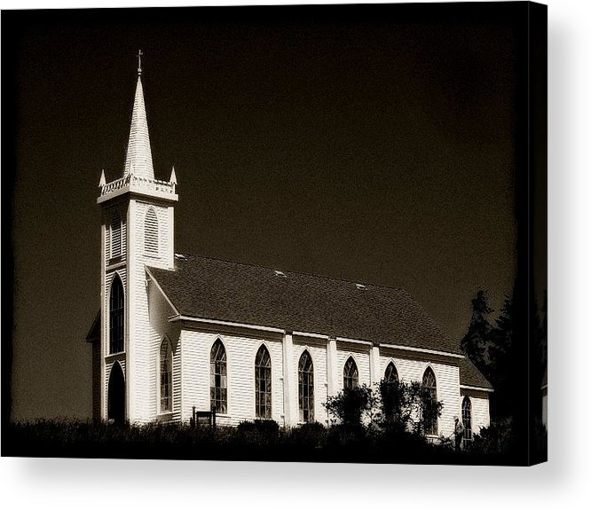 Church Acrylic Print featuring the photograph Church In Bodega Bay by Megan Robinson
