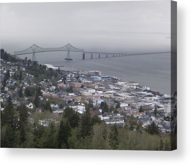 Oregon Acrylic Print featuring the photograph Cloudy Coast by Jennifer Frisch