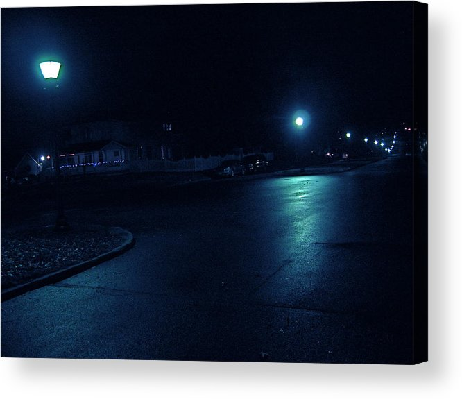 Iowa Acrylic Print featuring the photograph Cold Light At Night by Big Mike Roate