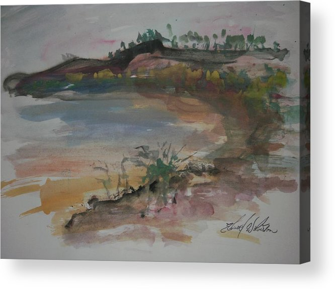 Point Acrylic Print featuring the painting Cooper Point by Edward Wolverton