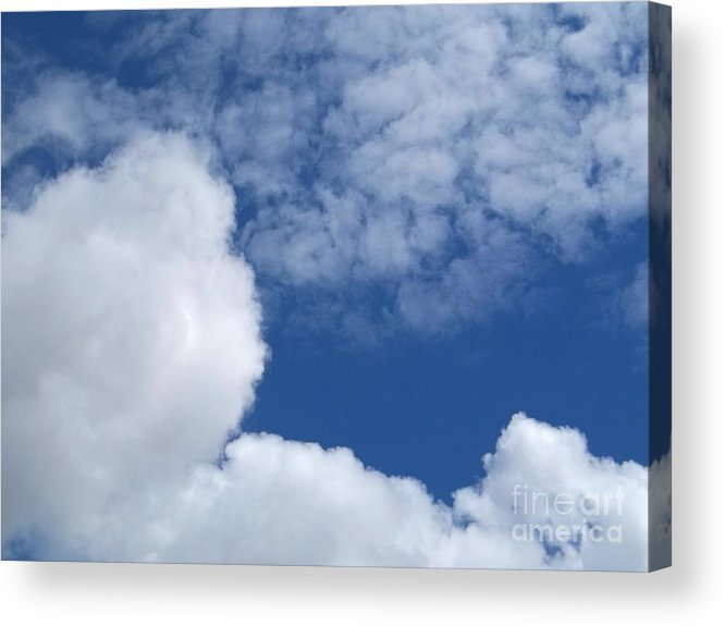 Nature Acrylic Print featuring the photograph Cotton Clouds by John From CNY