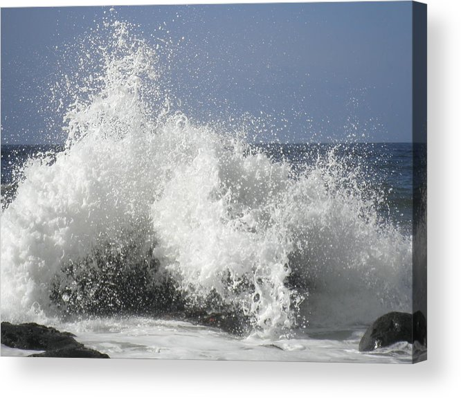 Waves Acrylic Print featuring the photograph Crashing by Elizabeth Ford