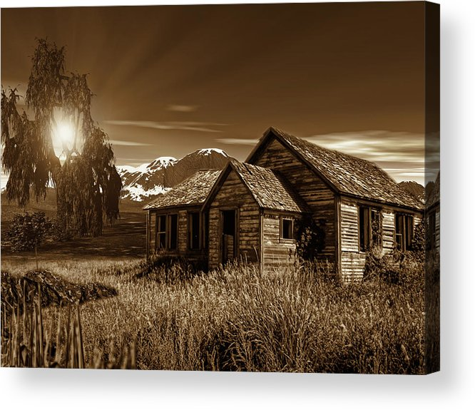 Sepia Acrylic Print featuring the photograph Days Of Yore by Lourry Legarde