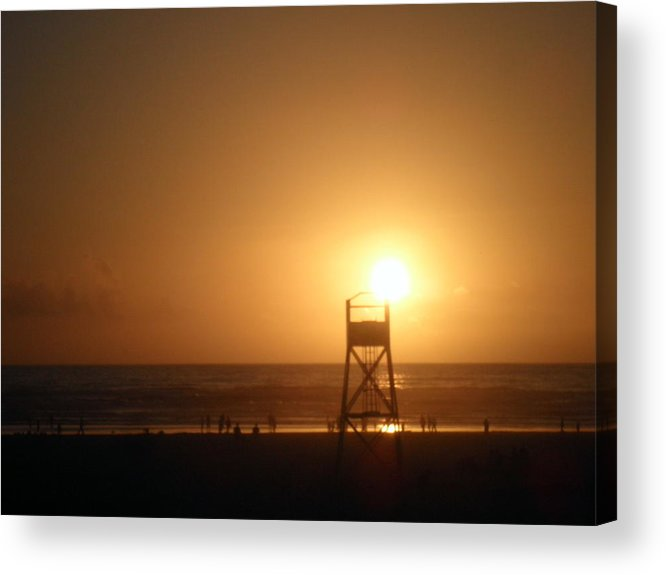 Beach Acrylic Print featuring the photograph Drawing To A Close by Elizabeth Ford