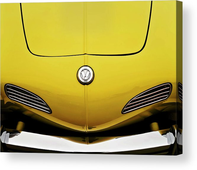 Volkswagen Acrylic Print featuring the digital art Electric Karmann by Douglas Pittman