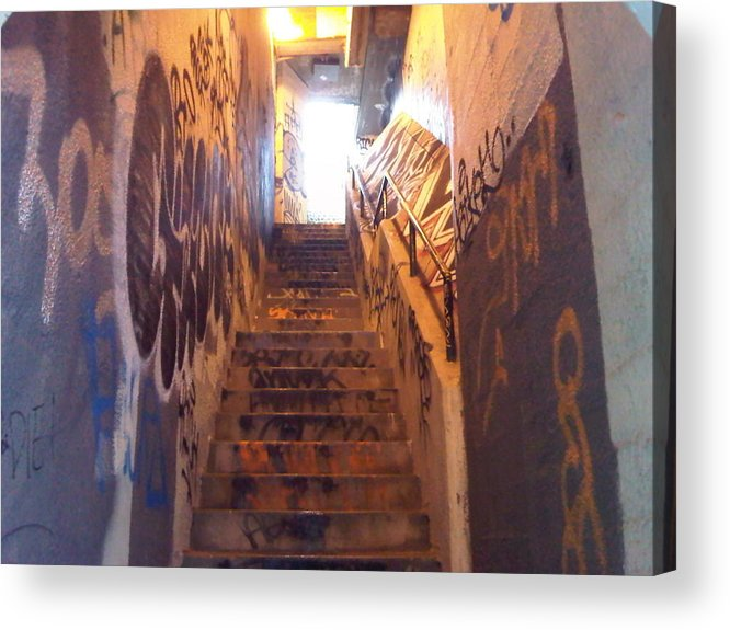 Graffiti Acrylic Print featuring the photograph Escape From Hell by Nimmi Solomon